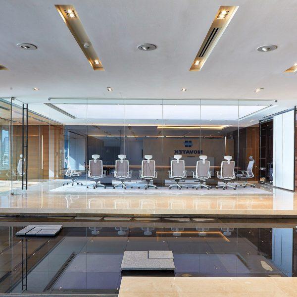 Novatek office conference room design