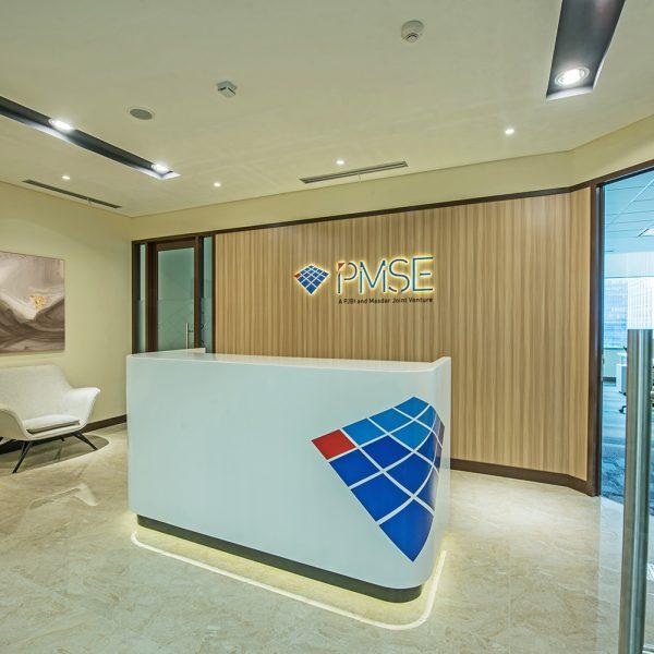 PT PMSE office front desk holding area design