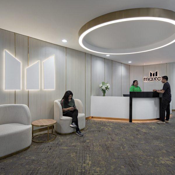 Maxco futures office main entrance holding area design